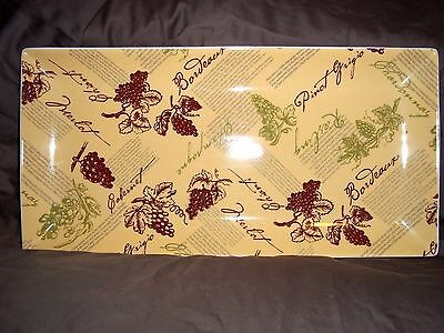 Wine Theme Serving Platter by Boston Warehouse Trading Corp.
