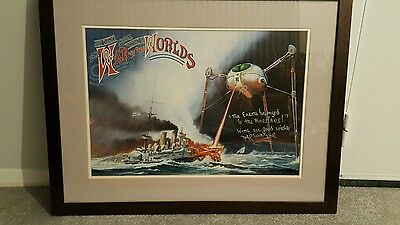 """Jeff Wayne """"The War of the Worlds"""" HAND SIGNED AUTOGRAPHED POSTER"""