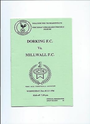 Millwall Pre-Season Friendly At Dorking Fc July 1996