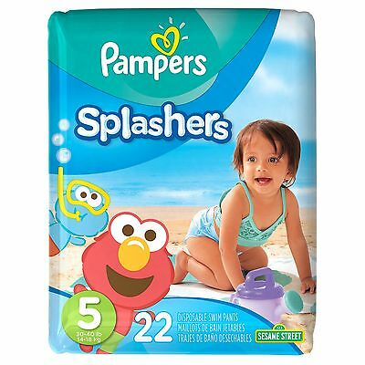 Pampers Splashers Disposable Swim Pants Size 5, 22-Count