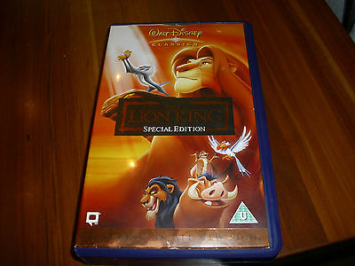 Disney's THE LION KING vhs, SPECIAL EDITION, PAL UK , ex con