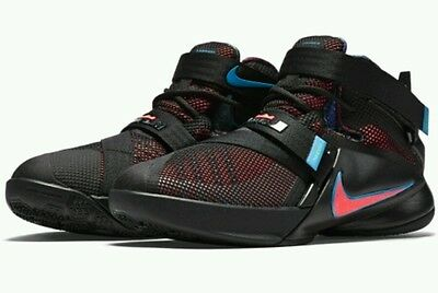 Nike LeBron Soldier 9 IX GS Grade School Basketball Shoes Youth US 6 Black NEW