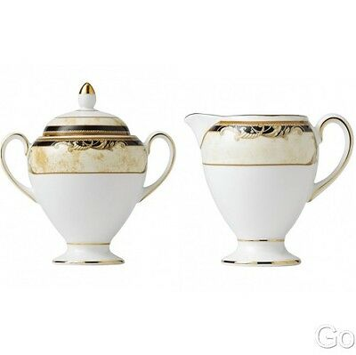 Wedgwood Cornucopia Covered Sugar and Creamer New Two Piece
