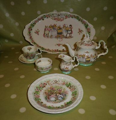 Royal Doulton BRAMBLY HEDGE Miniature ITEMS (6)   EX/COND  Highly collectable
