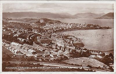Cardwell Bay & River Clyde From ABove Lyle Road, GOUROCK, Renfrewshire RP