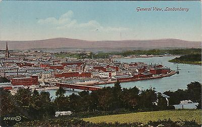 General View & River, LONDONDERRY, County Londonderry, Ulster