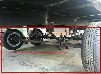 3.5 T DIY tandem trailer undercarriage kit springs hitch axles brakes drums