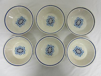 Vintage retro Arklow pottery - 'Aurora' - Six cereal bowls