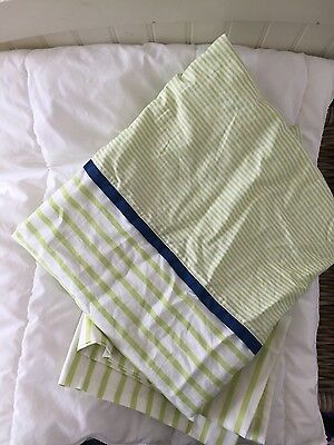IKEA crib toddler duvet cover and insert, pillow case included. green and white