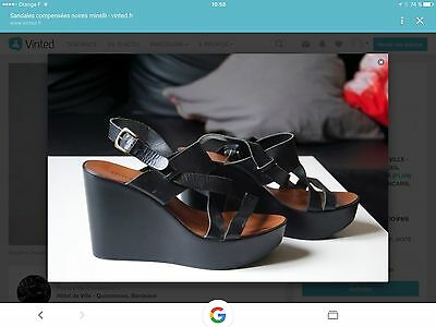 Sandales Compensees Minelli Cuir Pointure 40