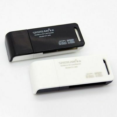 2 IN 1 USB Memory Card Reader Adapter for Micro SD MMC SDHC SY-368 Fast Postage