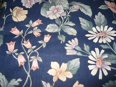 Vintage piece of blue floral fabric