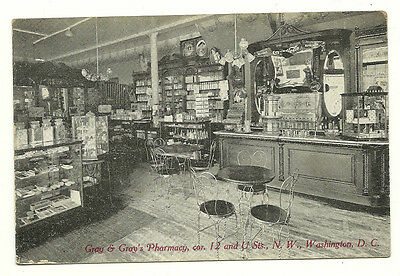 Historic 1910 African American Postcard Washington Dc Pharmacy Drugstore - Rare