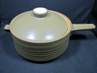 Mid Century Denby Camelot Dark Green Covered Veg Dish With Handle  Kt785