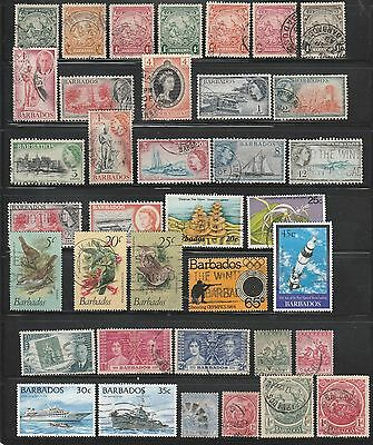 Barbados, 37 Used On Scan, Older Lot