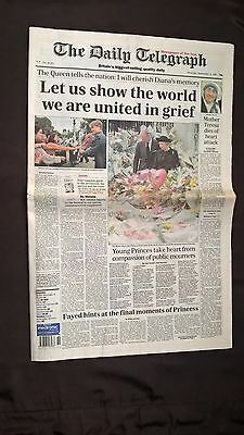 The Daily Telegraph Sept 6 1997 Let Us Show The World We Are United In Grief