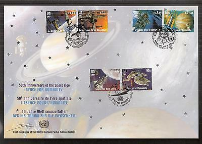 United Nations 2007 6v 50th Annv of Space Age FDC