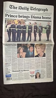 The Daily Telegraph Sept 1 1997 Prince Brings Diana Home