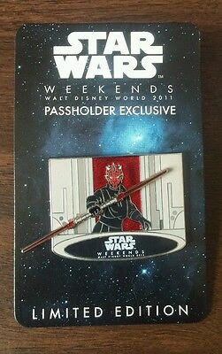 Disney LE Trading Pin - Star Wars Weekends 2011 - Darth Maul - Annual Passholder