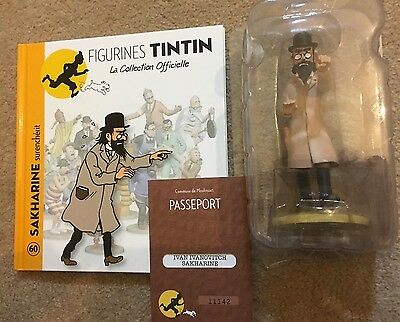 OFFICIAL TINTIN FIGURINES COLLECTION # 60 Sakharine Herge Figure Model