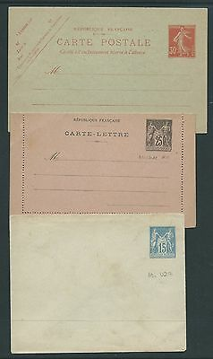 France 3 Early Unused Postal Stationery Last One Needs Cleaning Interesting