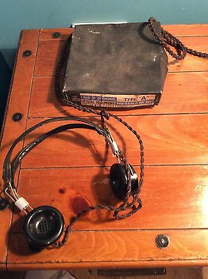 Pair Of Rothermel Bakelite Headphones Vintage