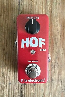 TC Electronic HOF Hall of Fame Mini Reverb Guitar Pedal