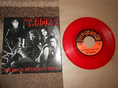 THE CRAMPS  BIG BLACK WITHCRAFT ROCK   red  7inch vinyl