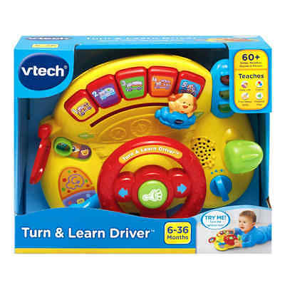 Kids driving toy steering wheel play VTech Turn And Learn Driver Free Shipping
