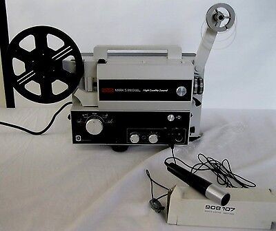 Eumig Mark S810 D Cine Projector: Boxed 1970s + accessories GWO Boxed PAT tested