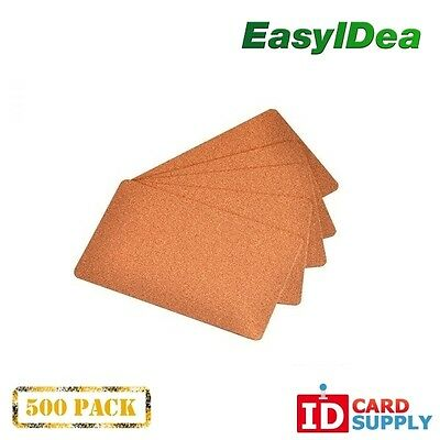 Pack of 500 Premium Copper ID Cards CR80 Standard Size PVC Cards | 30 mil Thickn