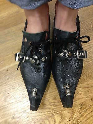 New Unisex african very unique handmade leather snakeskin  shoes size 7'5 UK