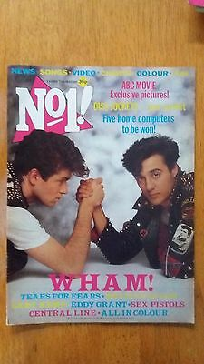 No 1 (Number One) Magazine 25/06/83-Wham/sex Pistols/tears For Fears/eddy Grant.
