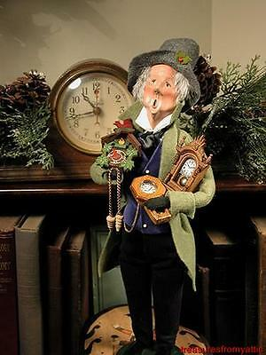 Byers Choice Carolers ~ THE CLOCKMAKER #406 2011 NEW Special Characters
