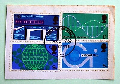 GB Stamps British Post Office Technology 1969