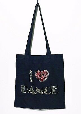 "I LOVE Dance black 14"" bag   Zippidy Kids"