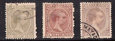 Stamps Puerto Rico 1890-1897 lot