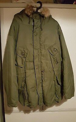 Canadian Army  Cold Weather Parka ECWS  Fur Trim Hood (Large)