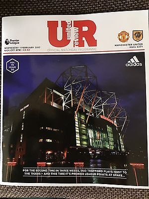 Manchester United v Hull City Official Matchday Programme 1/2/17. Brand New