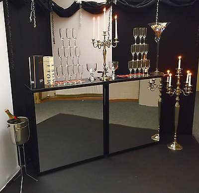 Mobile Bar For Hire With Chromed Mirrored Effect Panels + Free Glass Wear