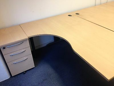 office desk corner left or right available with pedestal filing cabinet