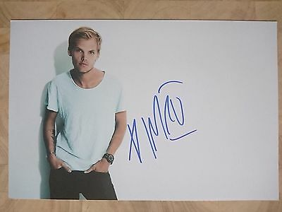AVICI hand signed genuine autographed picture w/ COA - HEY BROTHER