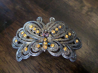 Vintage Butterfly Rhinestone Hair Clip