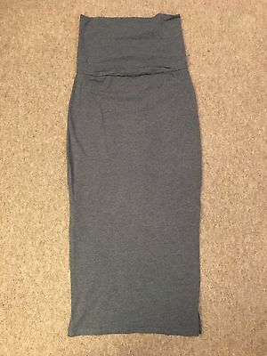 Mamalicious Maternity Grey Stretch Maxi Skirt  - Size S