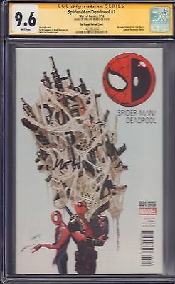 Spider-Man/Deadpool #1 Variant CGC signed by Mike Del Mundo!