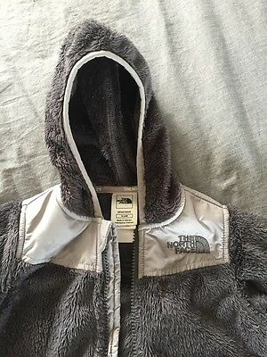 North Face Toddler Fleece Jacket Dark Gray Size 18-24 MONTH, USED
