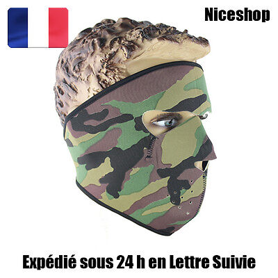 Masque A Néoprène Camouflage Cagoule Moto Scooter Biker Motard Paintball Airsoft