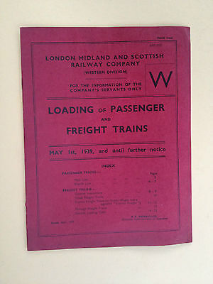 LMS - Loading of Passenger and Freight Trains - May 1st 1939 UFN
