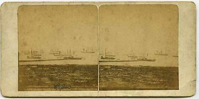 Liverpool: French view of ships in the Harbour