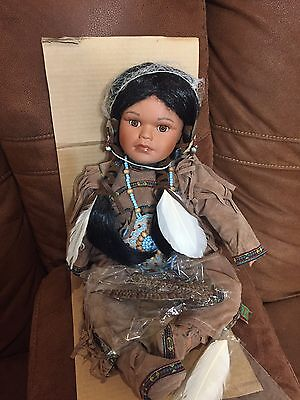 """Timeless Collection Native American Indian """"LITTLE FAWN"""" Doll w/ Box"""
